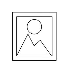 landscape picture symbol vector image