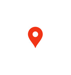 location pin icon red pointer simple flat point vector image