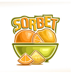 Logo for lemon sorbet vector