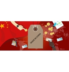 made in China flag trading international money vector image