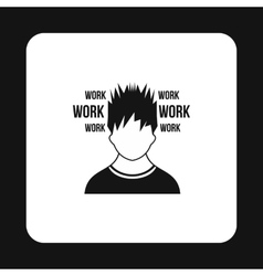 Man and work words icon simple style vector image