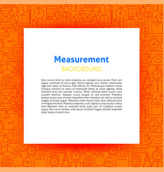Measurement paper template vector
