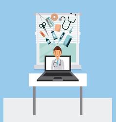 Medical doctor icon vector