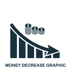 Money decrease graphic icon mobile app printing vector