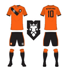 netherlands soccer jersey or football kit vector image
