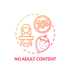 No adult content concept icon vector