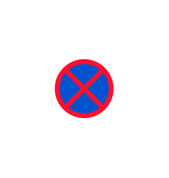 no stopping and parking roadsign isolated vector image