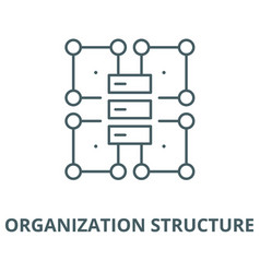 Organization structure line icon linear vector