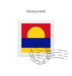 Palmyra Atoll Flag Postage Stamp vector