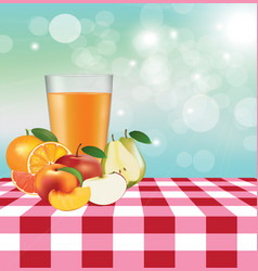 picnic fruits table vector image