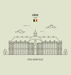 Prince-bishops palace in liege vector
