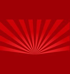 red sunburst background retro background with sun vector image