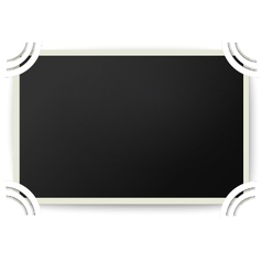 Retro photo frame with straight edges in album vector image