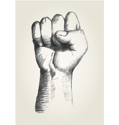 Sketch of a right fist vector image