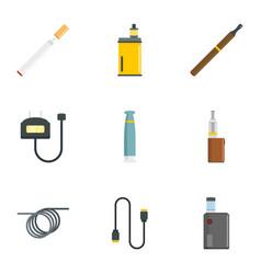 smoking device icon set flat style vector image
