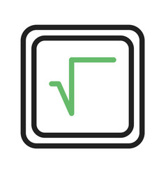 Square root symbol vector
