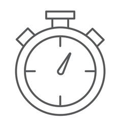 stopwatch thin line icon time and measure timer vector image