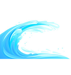 Surfing wave isolated vector