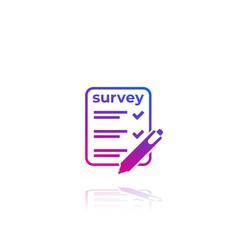 Survey test icon on white vector