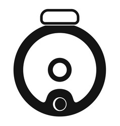 top view robot vacuum cleaner icon simple style vector image