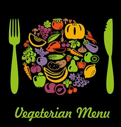 VegetarianMenu vector