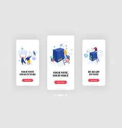 voting and polling elections campaign mobile app vector image