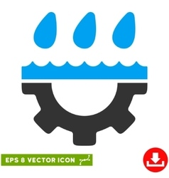 Water Gear Drops Eps Icon vector