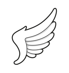wing icon bird or angel freedom design vector image