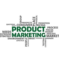 word cloud product marketing vector image