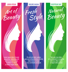 abstract banners for beauty and cosmetic vector image