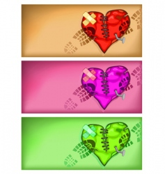 broken heart background vector image vector image