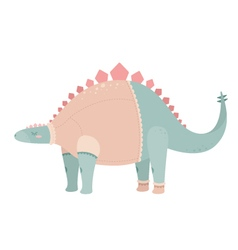 Cute dinosaur vector image