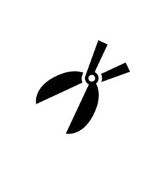 Garden scissors Icon Flat vector image