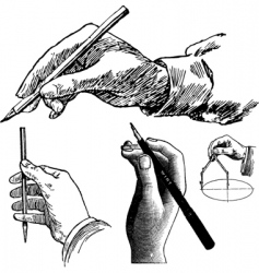 hands drawing vector image vector image