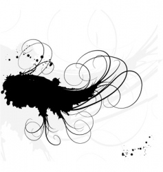 ink and lines backgroundoun vector image vector image