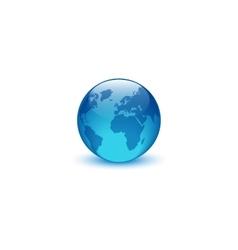 Realistic glass globe logo creative idea eco vector image vector image