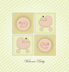 Sweet Welcome the New Baby Card vector image vector image