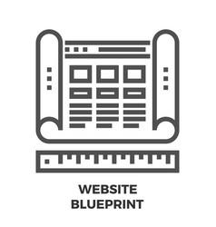 website blueprint line icon vector image