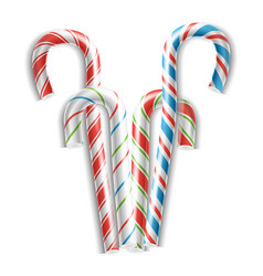 classic candy cane 3d realistic christmas vector image vector image