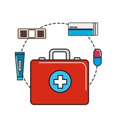 color healthcare medications tools icon vector image vector image