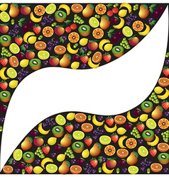 Fruits abstract composition different fruits icon vector image vector image