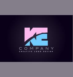 ke alphabet letter join joined letter logo design vector image vector image