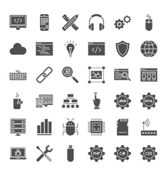 Programming Solid Web Icons vector image vector image