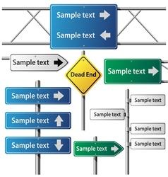 Road sign set vector image