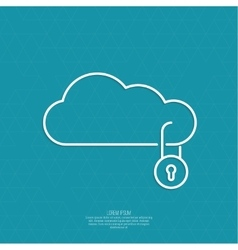 Secure cloud service vector image vector image
