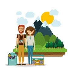 Traveler lifestyle design vector image