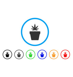 cannabis pot rounded icon vector image