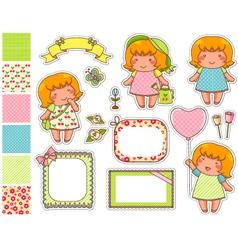 cartoon design elements vector image vector image