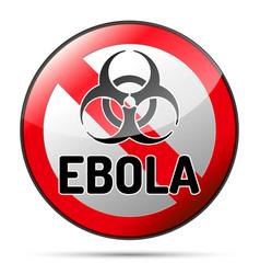 Ebola biohazard virus danger sign with reflect vector