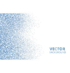 glitter confetti falling from the side blue vector image vector image
